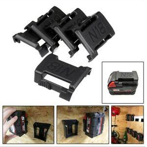 For Milwaukee M18 Storage-Shelf Rack Stand Halter Schlitze 5 Teile Batterie
