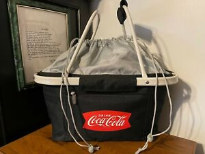 PICNIC TIME Soft - Collapsible COCA-COLA METRO BASKET COOLER TOTE - NWOT