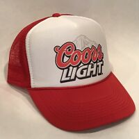 Vintage Coors Light Banquet Beer Trucker Hat Mesh Snapback Promo Cap Red