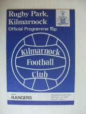 Teams O-R Final Football Scottish Fixture Programmes (1970s)