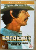 Breakout DVD 1975 Prison Break Thriller Rare w/ Charles Bronson + Robert Duvall
