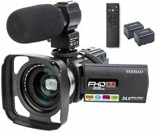 Camcorder Video Camera YEEHAO WiFi HD 1080P 24MP 16X Powerful Digital Zoom Camer