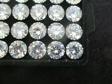 10  MM Round STAR CUT Cubic Zirconia loose Stones 5A QUALITY *FREE UK POSTAGE *