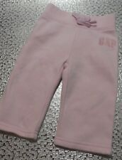 BABY GAP GIRL PINK LONG PANTS / TROUSERS ELASTICATED WAIST AGE 3-6 MONTHS