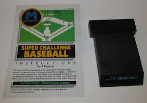 Super Challenge Baseball for Atari with Instruction Manual Booklet Very Good