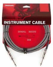 D'Addario Braided Instrument Cable Grey 15 feet PW-BG-15BG
