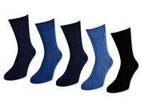 10 Paar Herrensocken 100% Baumwolle ohne Naht Business Herren Socken Jeans Blau