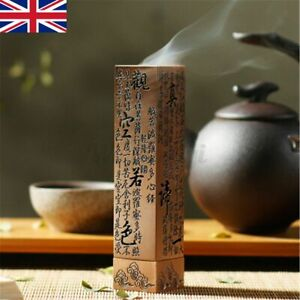HEART SUTRA Alloy Buddhist Incense Stick Holder Burning Joss Insence Box