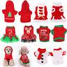 Pet Dog Puppy Santa Shirt Christmas Party Dress Clothes Costumes Warm Apparel