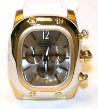 Glam Rock GR70103-SWS Gulfstream Chronograph Swiss Gold White Leather Watch NEW!