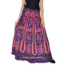 Long Skirt Indian Women Ethnic Floral Rapron Printed Cotton Wrap Around Skirt