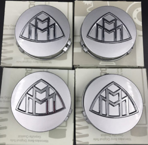 Mercedes Benz Maybach Wheel S400S600 Center Hub Cap Cover Logo Emblem 4Pcs 75mm