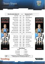 Teamsheet - West Bromwich Albion v Swansea City 2011/12