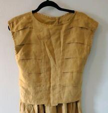 Vintage Carol Fertig Women's Size 4 Olive Green Two-Piece Top & Skirt Set 1980s