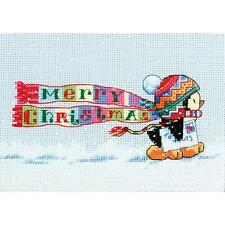 Counted Cross Stitch Kit CHRISTMAS PENGUIN Dimensions