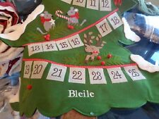 Pottery Barn Kids countdown Christmas Tree Advent woodland Calendar mono Bleile
