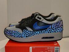 Nike Air Max 1 SE Reflective Safari Mens 10 BQ6521-001 Off Noir Grey Shoes