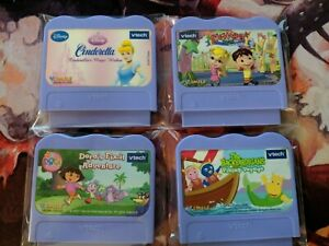 Vtech VSmile Game Cartridges *Lot of 4*  Cinderella, Dora, Backyardigans...