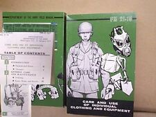 Care And Use Field Manual 21-15 1977 dated