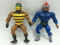 1983 Mattel MOTU Masters Of The Universe - Mek-A-Neck and Buzz-Off Figures