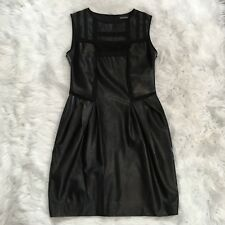 Ermanno Scervino Women's Dress Size 40 (S) Lace Insert Black Pleated Mini