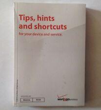 Verizon Motorola MOTO VU204 Cell Phone User Guide Manual & Tips,Hints, Shortcuts