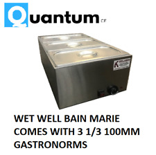 Wet well bain marie hot food sauce warmer with 1/3 gastronorms