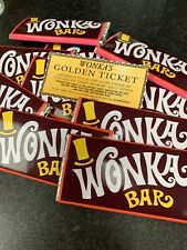 Willy Wonka Chocolate Big Bar 100g Gift Novelty Golden Ticket Children Filler