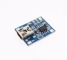 BATTERIA al litio tp4056 LIPO Caricatore modulo di ricarica Board 5v Mini USB 1a Arduino