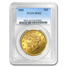 1898 $20 Liberty Gold Double Eagle MS-62 PCGS - SKU #15530