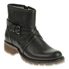 SEBAGO SHOES SARANAC STRAP LOW BOOTS PULL ON BLACK WATERPROOF LEATHER 6.5 NEW