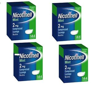Nicotinell 2mg mint lozenges regular strength 144 pieces 4xPACK