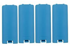 4X Battery Back Cover for Nintendo Wii Remote Gaming Controller blue