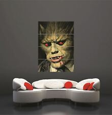 Scary Monster yeux rouges loup-garou Giant poster print wall art