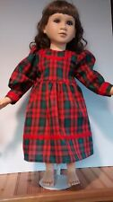 Red and Green plaid dress will fit the 23 inch My Twinn doll handmade and new