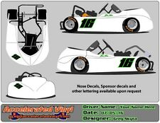 Go Kart 2 Color Vinyl Decal Number Set! 1 or 2 Digits!