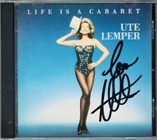 Ute LEMPER Signiert LIFE IS A CABARET Willkommen Mein Herr Non C'est Rien CBS CD