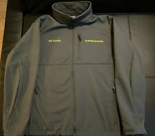 COLUMBIA OREGON DUCKS GRAY ASCENDER BONDED SOFTSHELL JACKET MENS XL YELLOW