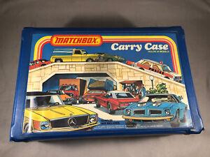 Vtg 1978 Matchbox Cars Vinyl Carry Case 24 Models Very Good Condition