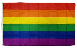 Flagge Regenbogen  Fahne  Hissflagge 90x150 cm  NEU