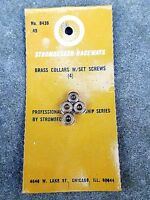 "Strombecker brass collars w/ set screws 1/8"" ID Two pair.  No. 8436"