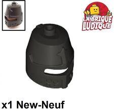Lego - 1x Minifig headgear casque helmet castle kingdoms noir/black 89520 NEUF
