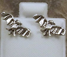 Sterling Silver Bat Stud Earrings - 3199