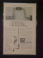 ~Old Yankee Tools Mechanics Hand Brace Drill ART PRINT AD~ ORIGINAL ANTIQUE 1930