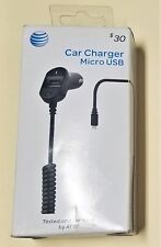 AT&T Micro Car Charger 3.4 amp Rapid Dual Charging Extra USB Port