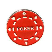 Red Casinò giocatori d'azzardo Poker Chip in metallo smaltato bavero pin badge TIE PIN