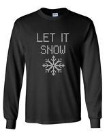Men's Let It Snow T-Shirt Ugly Christmas Shirt X-mas Gift Tee Winter is Coming