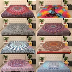 Queen Size Cotton Flat Bed Sheet Bed Cover Bed Sheets Mandala Double Bedspread
