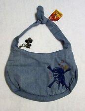 NWT Disney Pirates of the Caribbean denim embroidered Purse bag