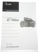 originale Deutsche Bedienungsanleitung/ Handbuch für ICOM IC-7000